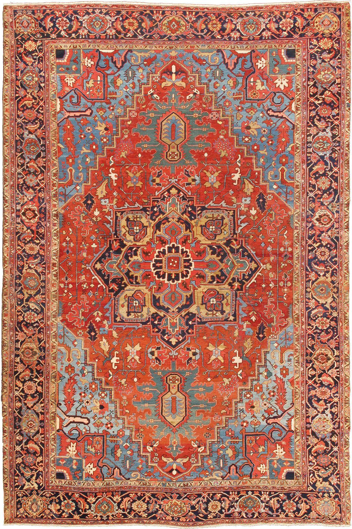 Persian Heriz Serapi Rug 10 6 X15 2 1920 Keivan Woven Arts Gallery Wolle Kaufen
