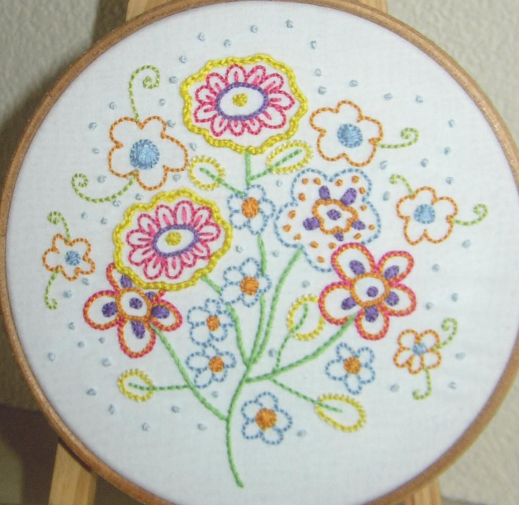 Hand embroidery pdf fresh florals via craftsy embroidery