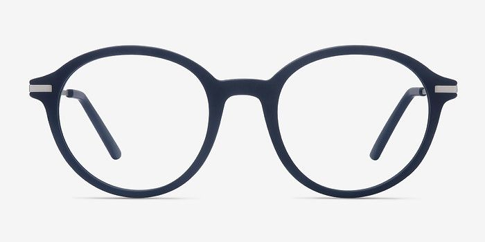 b6e7a37d98 Juno Matte Navy Metal Eyeglasses from EyeBuyDirect. Exceptional style