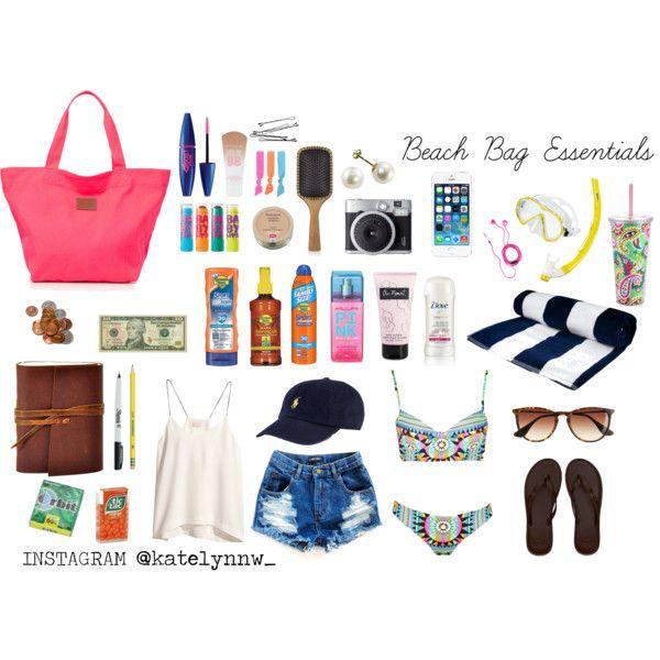 Beach Bag Essentials By Katelynnweatherford On Polyvore Featuring H M Mara Hoffman Hollister Co Victoria S Secret Pink J Crew Splendid