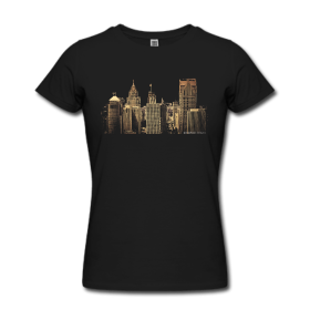 Women's Slim Fit T-Shirt by American Apparel ~ I Love This City ~ 453