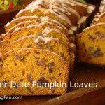 Ginger Date Pumpkin Loaves