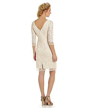 Eliza J Sequined Lace Sheath Dress #Dillards | Fashion | Pinterest
