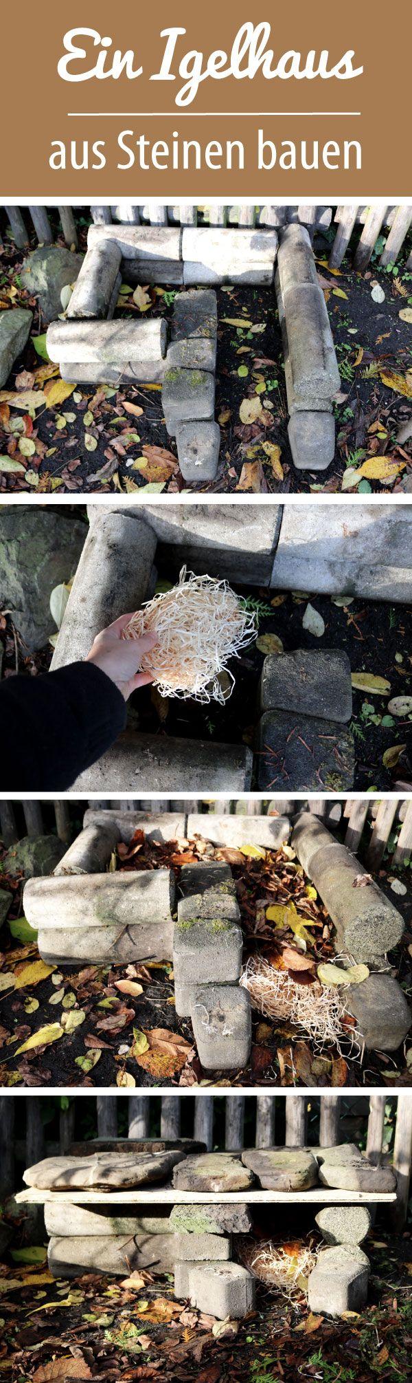 Ein Igelhaus Aus Steinen Bauen Basteln Pinterest Protecciones