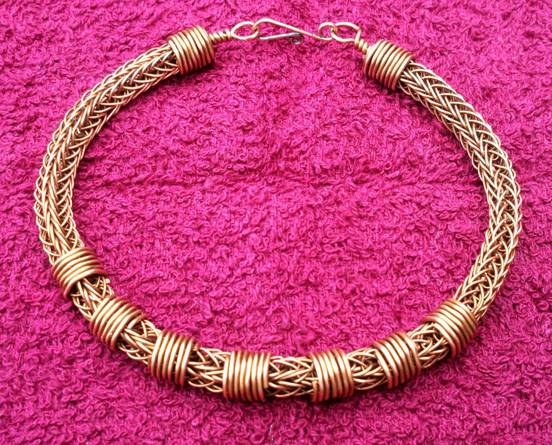 Mens Copper Viking Knit Bracelet - Copper on Copper | Pinterest ...