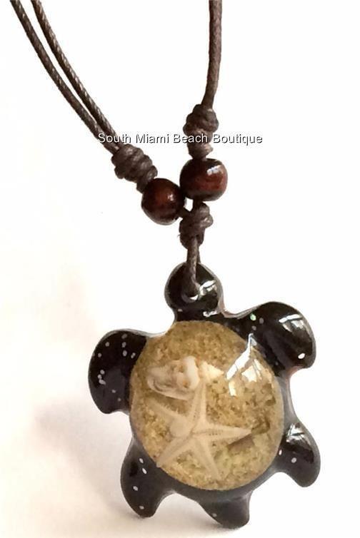 Brown Surfer Sea Turtle Necklace Pendant Sea Life Beach Starfish Shell USASeller #ONE #Pendant