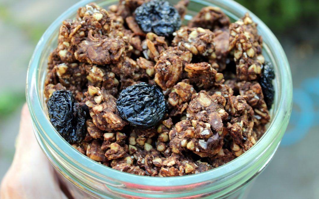 Chocolate Buckwheat Granola Clusters Julie Kittee Recipe Chocolate Granola Granola Clusters Buckwheat Granola