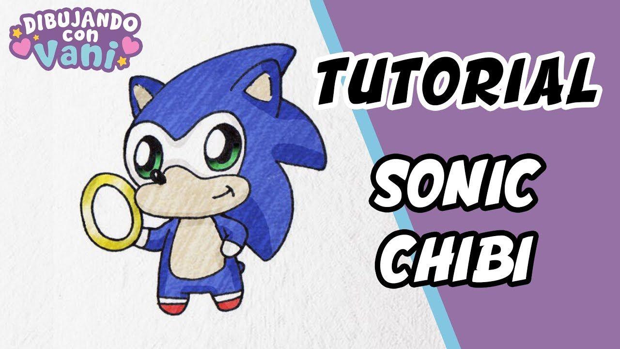 Como Dibujar A Sonic Paso A Paso En Estilo Chibi Dibujos Kawaii