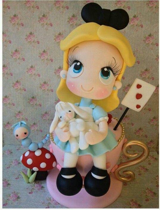 Alice Doll Cake Alice No Pais Das Maravilhas Bonecos De Biscuit