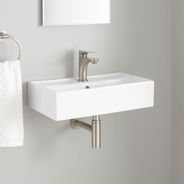 Corrie Mini Porcelain Wall Mount Bathroom Sink Bathroom Sinks