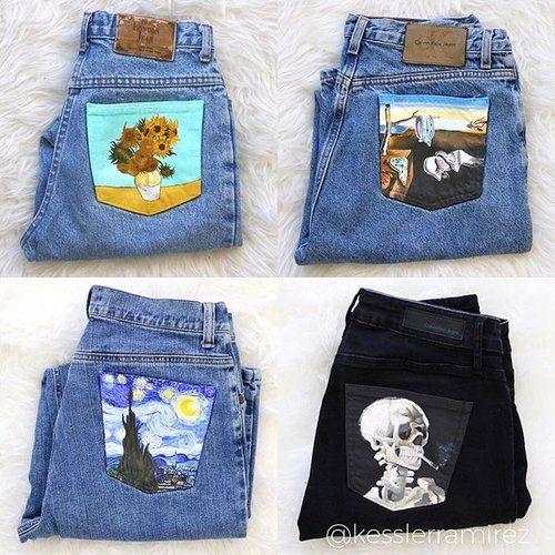 Custom orders are OPEN! Go to www.kesslerramirez.com/customjeans to read all the information, see available blank denim jackets/jeans, and request your own custom order! 😊 or click the link in my bio. . This is the VERY first time I've ever done custom orders, so thank you in advance for your patience with any blips that may arise 💙