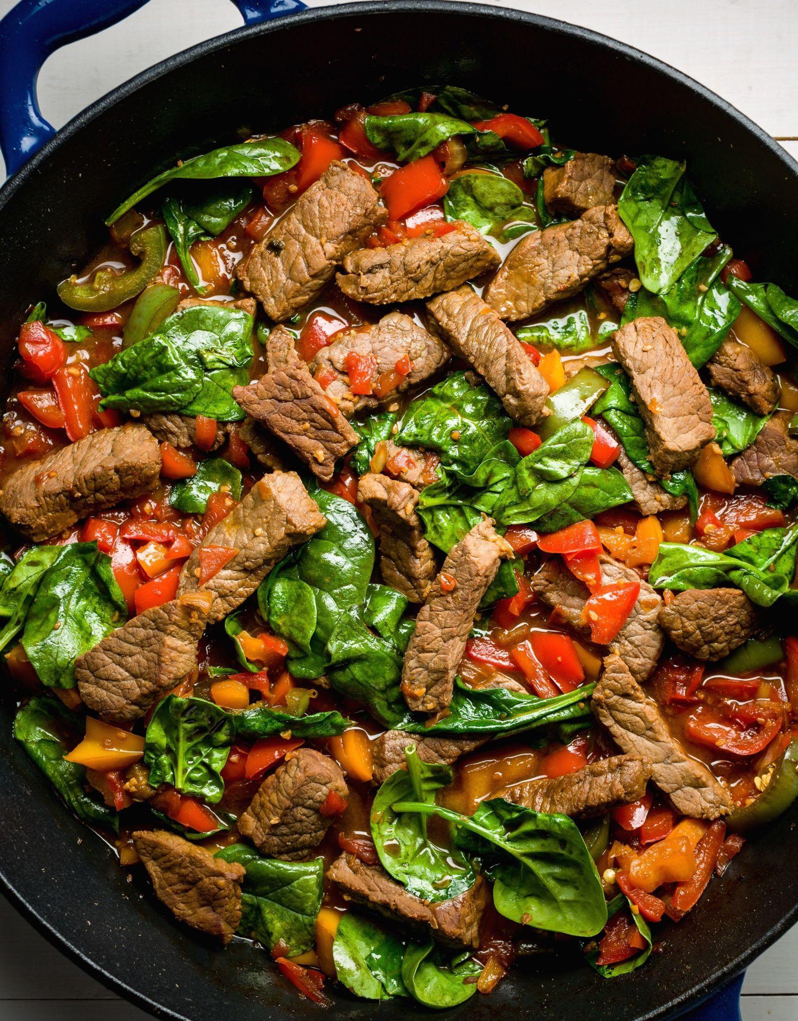 Teriyaki Steak Stir Fry With Peppers Recipe Round Steak Recipes Top Round Steak Recipes Teriyaki Steak