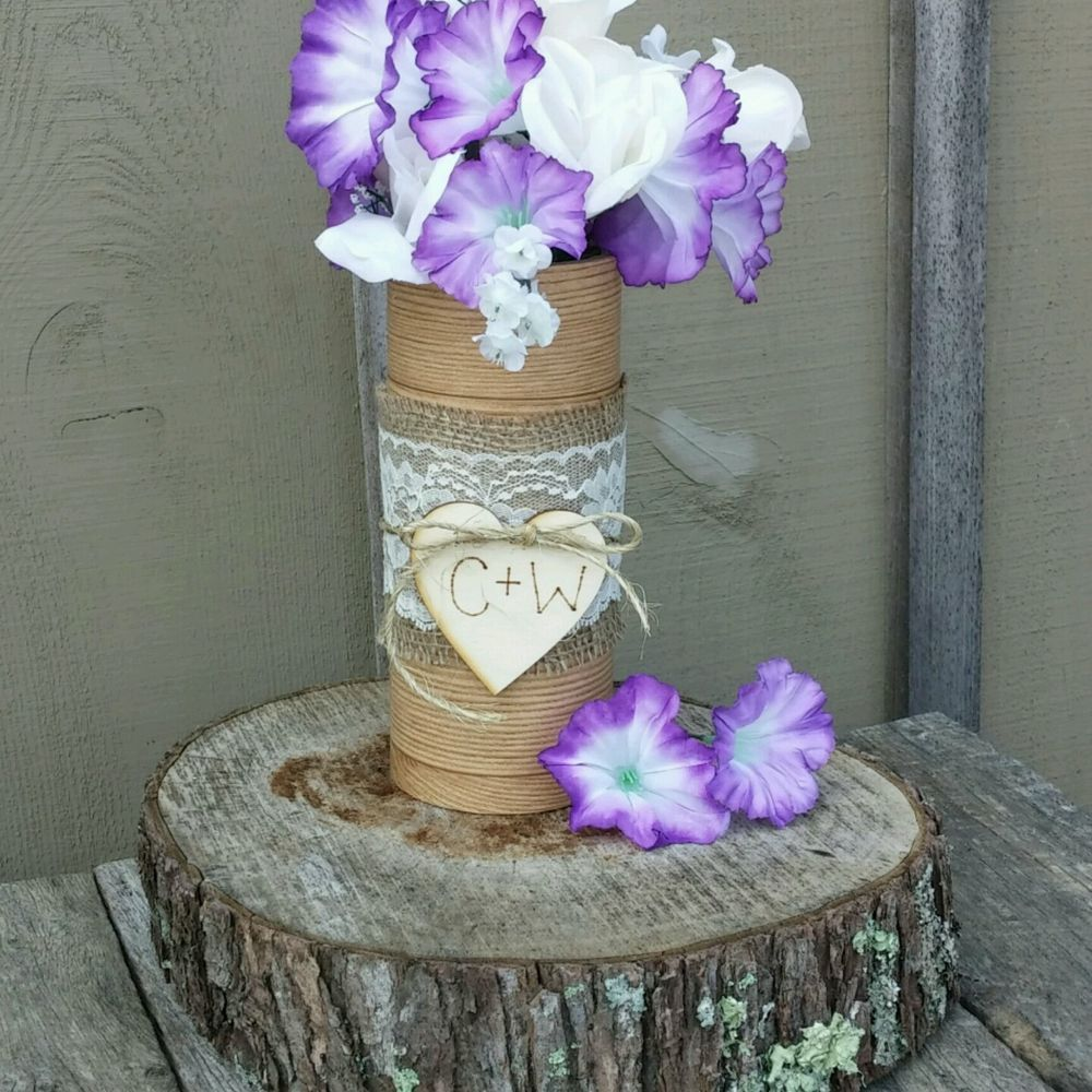 Set Of 10 Rustic Wedding Faux Wood Vase Centerpiece Wood Vase Centerpiece Wood Vase Vase Centerpieces