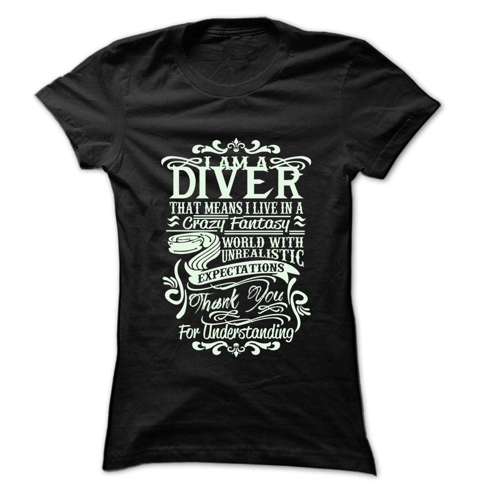 Job Title Diver T-Shirts, Hoodies. VIEW DETAIL ==► Funny Tee Shirts