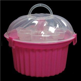 Pink Cupcake Shaped Cupcake Holder With Clear Lid Shop Hobby Lobby Cupcake Holder Pink Cupcakes Cupcakes Decoration