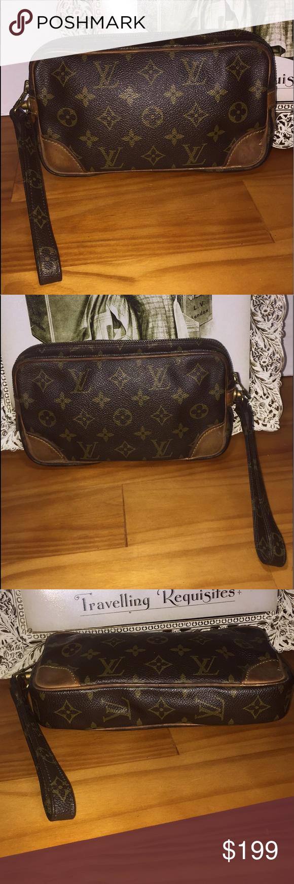 de95c09b5294 Authentic Louis Vuitton Marly Dragonne PM Clutch Authentic Pre-owned Marly  Clutch Bag No cracks