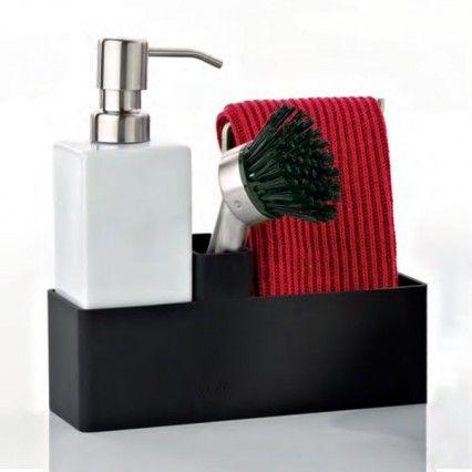 Bathroom Sink Zone confetti dishwashing set - green - sink caddy - zone denmark