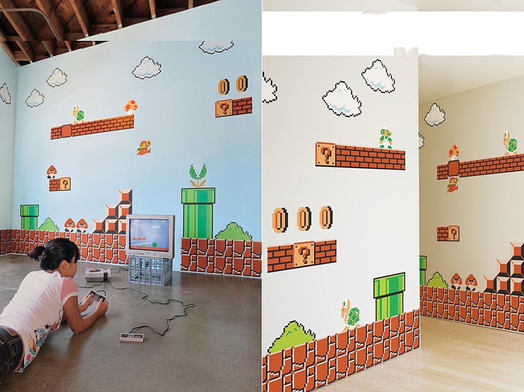 Beau Super Mario Wall Sticker!