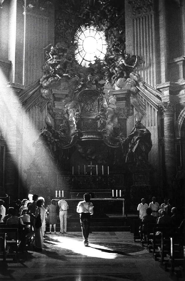 The Cure Photographer: Steven Severin Location: St. Peter's Basilica, Vatican City Date: August 1983