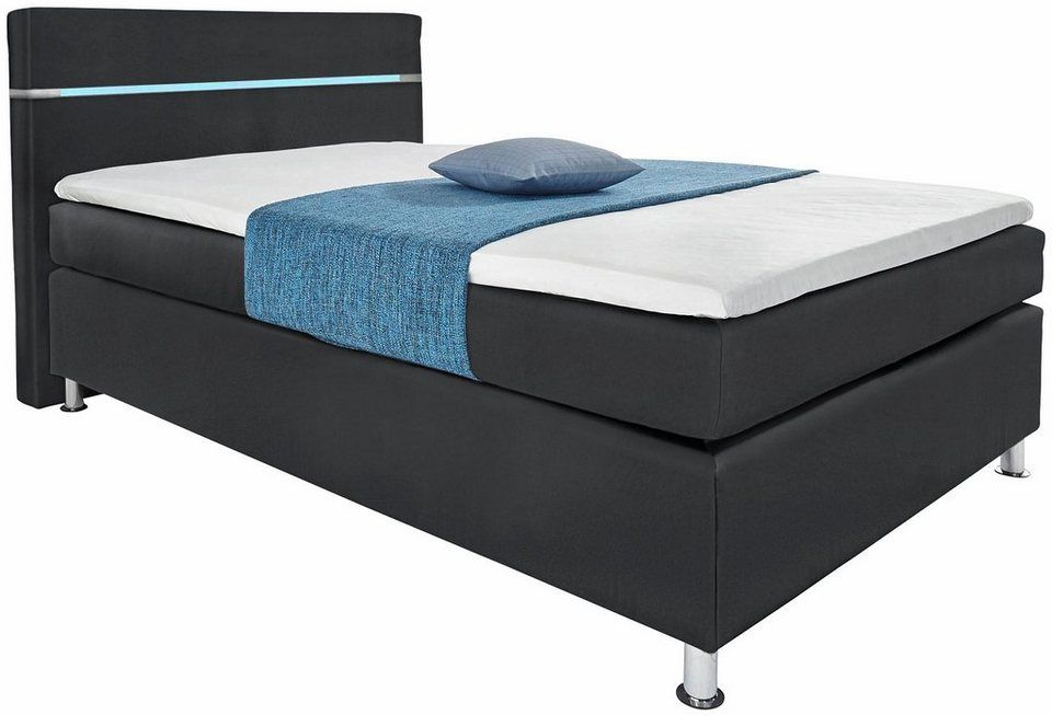 Hapo Boxspringbett Mit Led Rgb Beleuchtung Kaufen Zimmer Bett Boxspringbett Und Beleuchtung