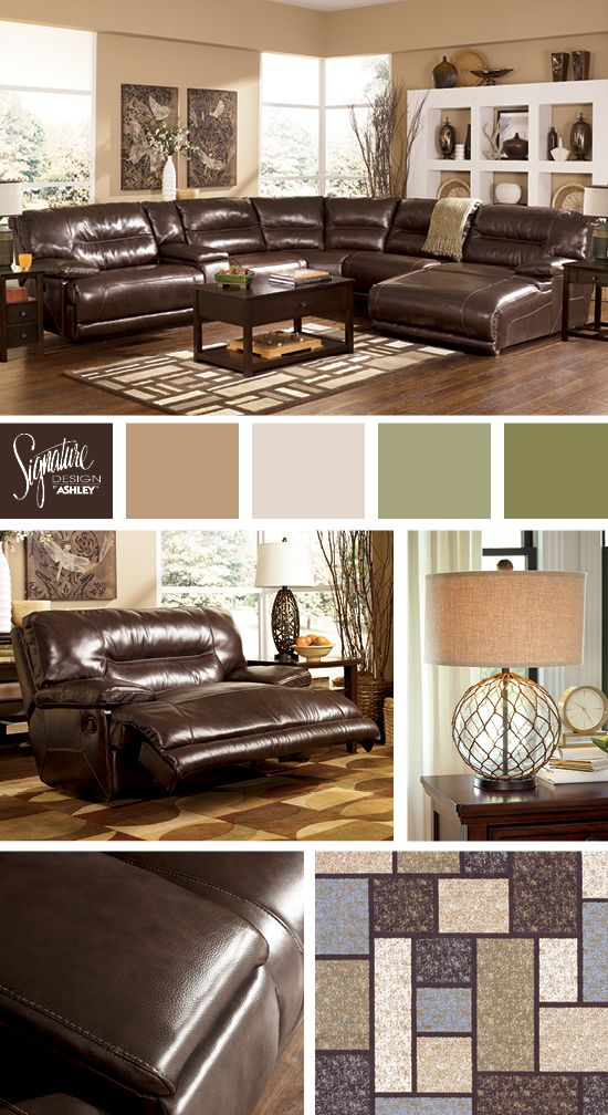 Rich Dark Brown Sectional Exhilaration Sectional Ashley