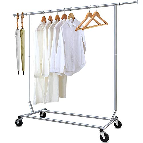 Camabel Clothing Garment Rack Heavy Duty Adjustable Rolling In
