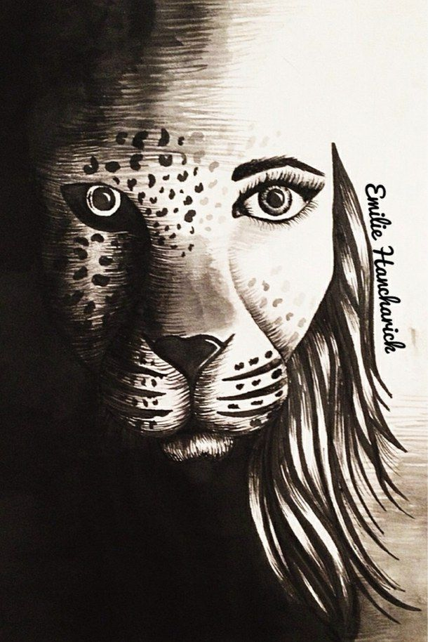 Lion Morph Tattoo: Art, Awesome, Boots, Cheetah, Cool, Drawing, Dress, Face