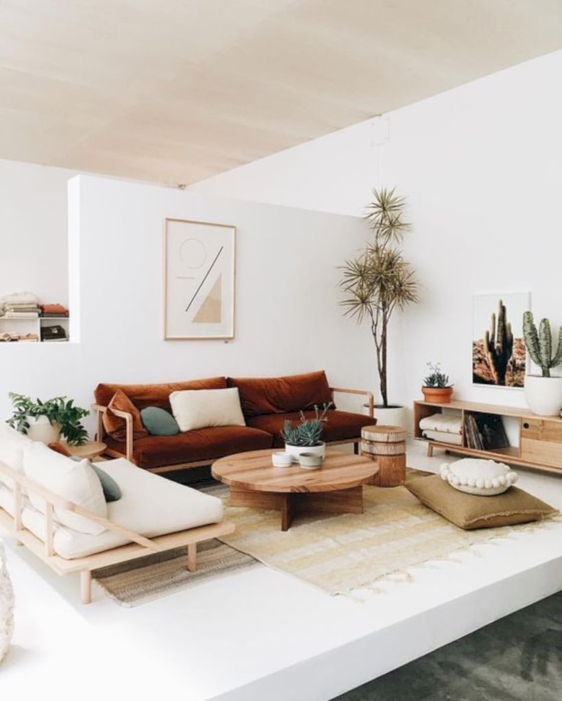 49 Stunning Scandinavian Living Room Design Ideas images