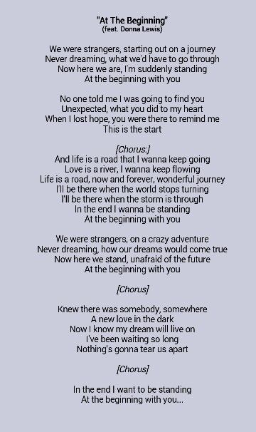 Richard Marx & Donna Lewis - At The Beginning - YouTube
