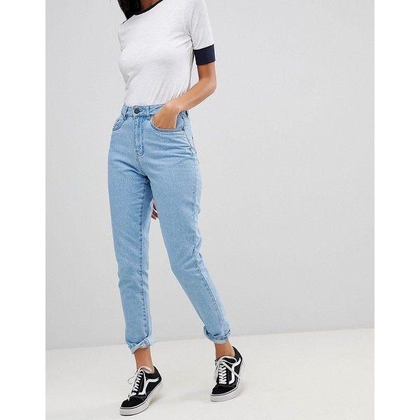Mom-Jeans in Acid-Waschung - Blau Noisy May Günstig Kaufen Besten Verkauf Günstig Kaufen Rabatt Mit Mastercard Günstig Online Rabatt Veröffentlichungstermine ijmME5Wv27