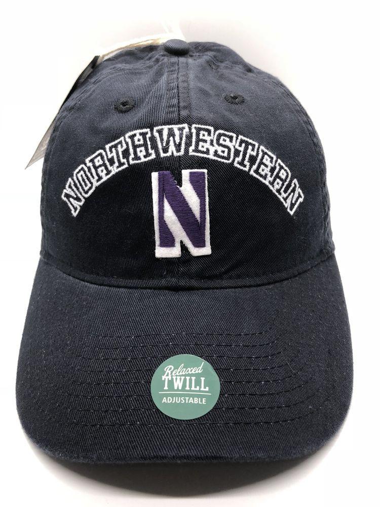 newest f2430 cd02b ... sale northwestern university wildcats cap hat adult adjustable black  legacy new ebay 3060f b77b2