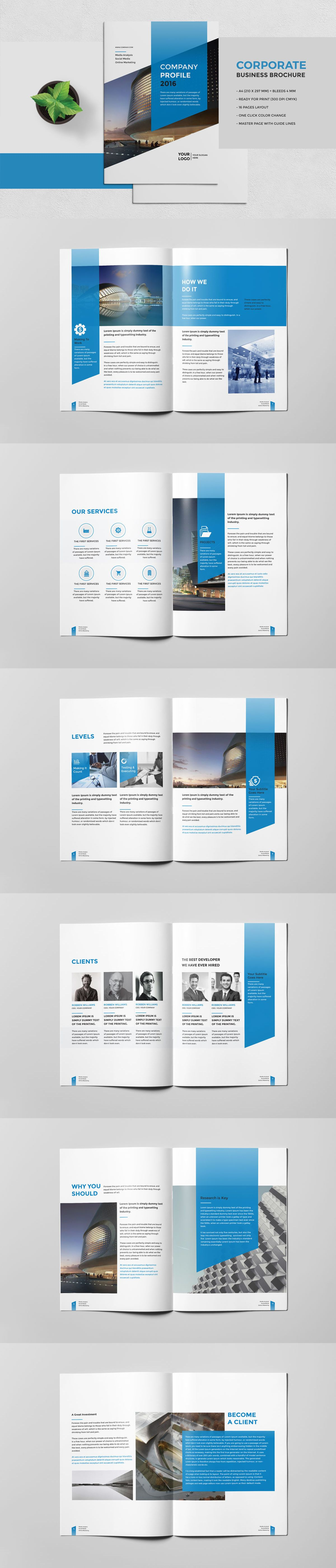 Corporate Business Brochure 16 Pages Template Indesign Indd