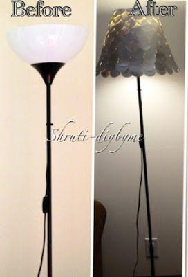 Diy S Do It Yourself Walmart Lamp Makeover Lamp Makeover Floor Lamp Makeover Diy Lamp Shade