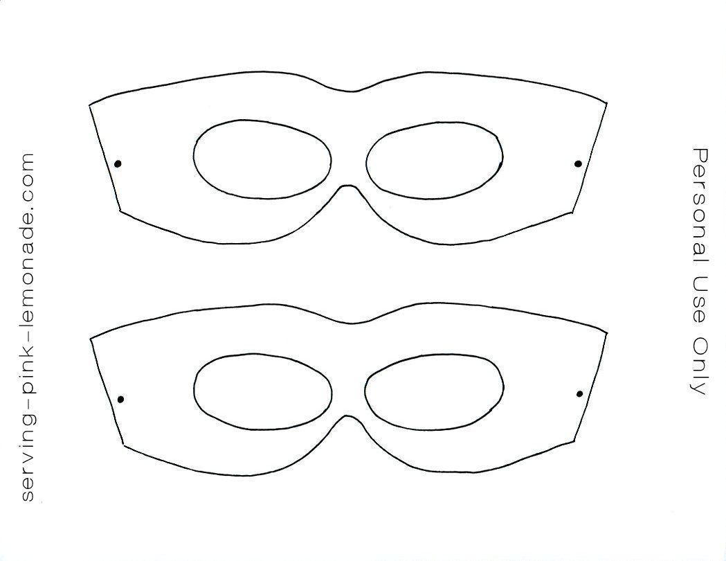 Molde De Antifaces Para Imprimir Mascaras De Super Heroe