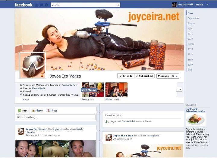 Joyce Ira Yarza Facebook Timeline Design Pinterest Timeline design