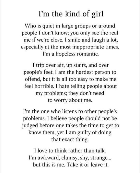 I'm that girl!