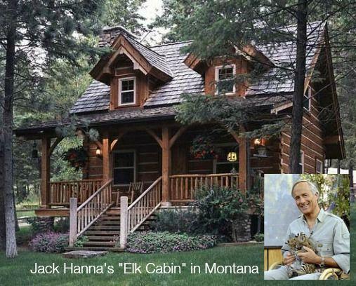 Jack-Hanna-acogedora cabaña de madera-en-Montana