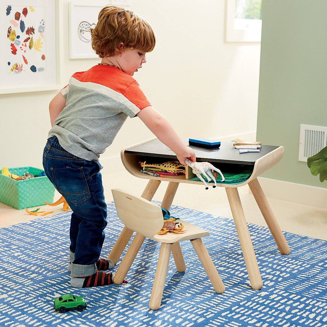 Shop Toddler Desk and Chair Set. With a sleek bentwood