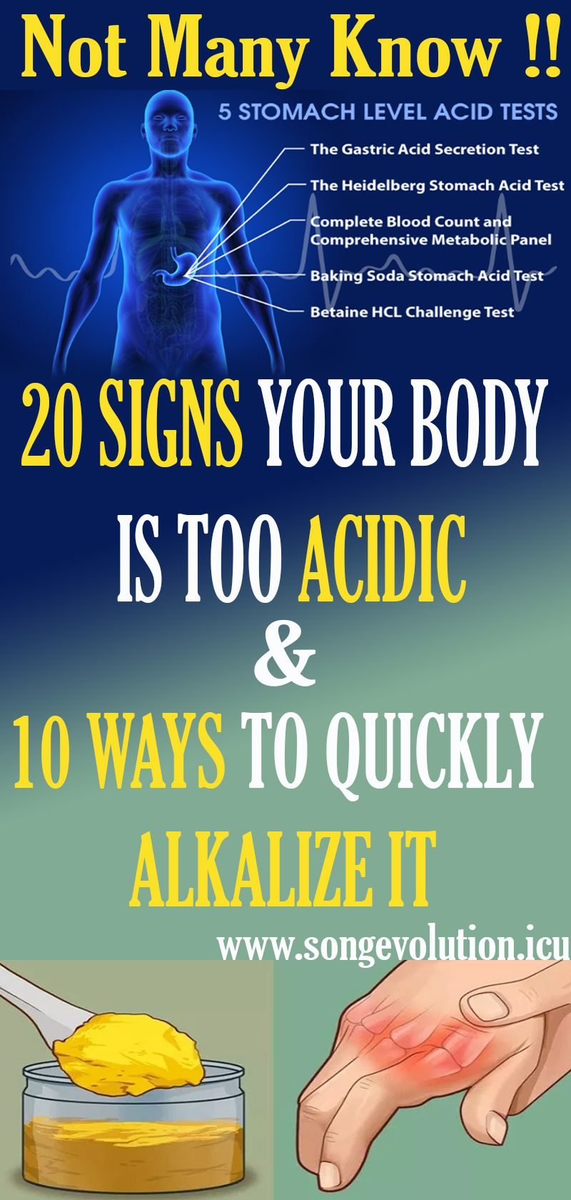 20 Signs Your Body Is Too Acidic And 10 Ways To Quickly Alkalize It Alkalize Health Health Remedies