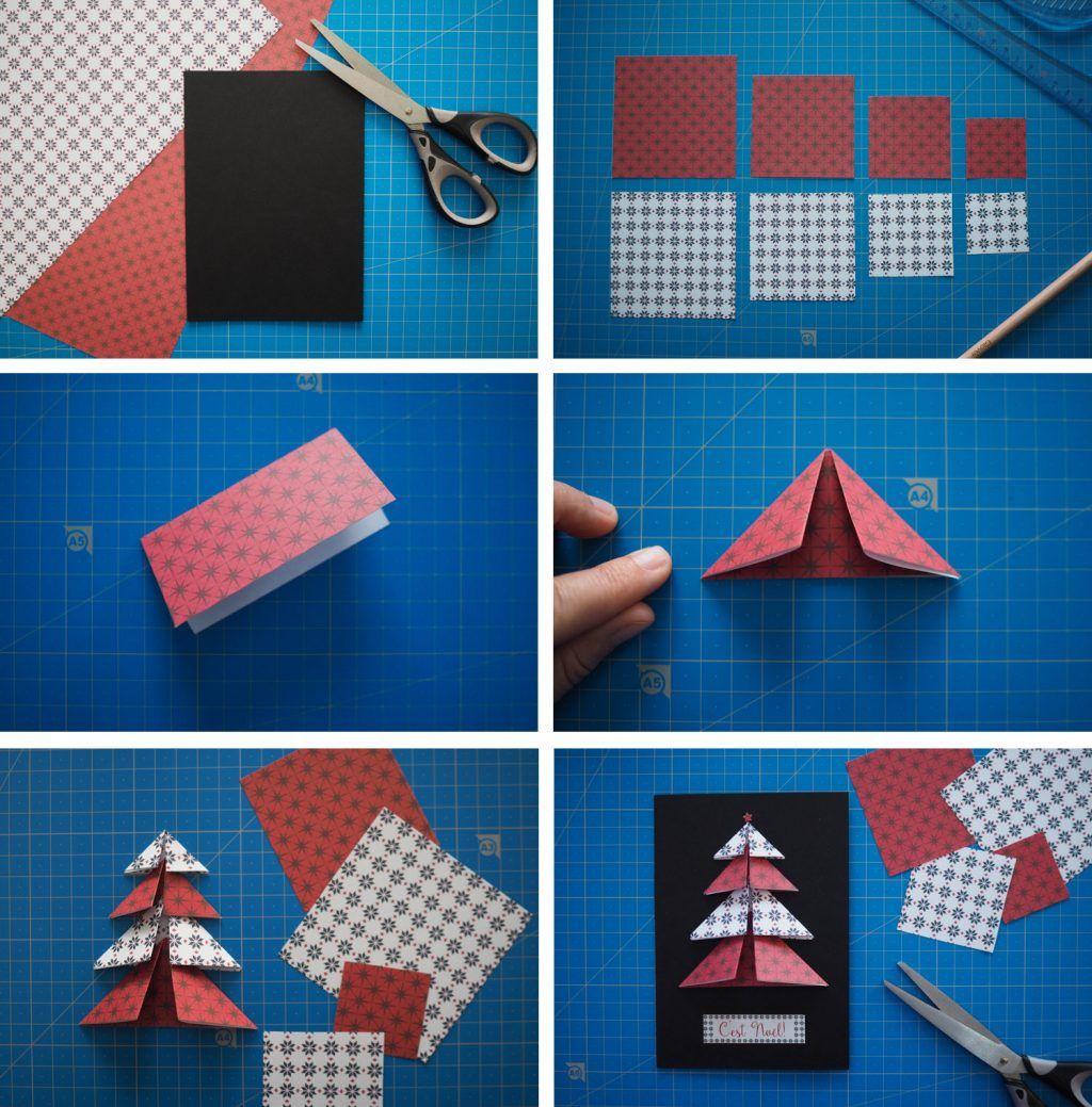 DIY – cartes de vœux de Noël fait main