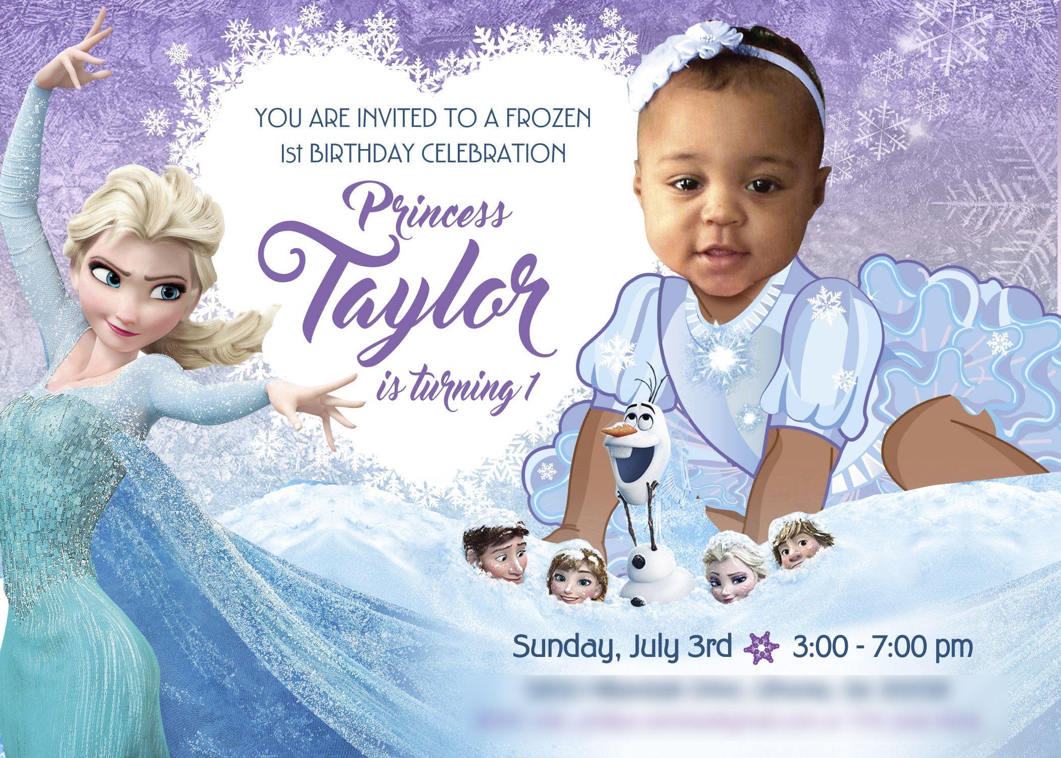 frozen birthday frozen invitations