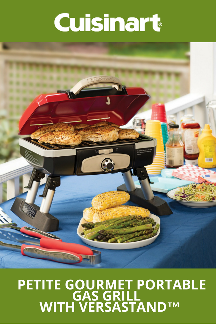 Our Petite Gourmet Portable Gas Grill With VersaStand™ Is Perfect For Your  Memorial Day Bash! With An Adjustable Base And Compact Design, Youu0027re Ready  To ...