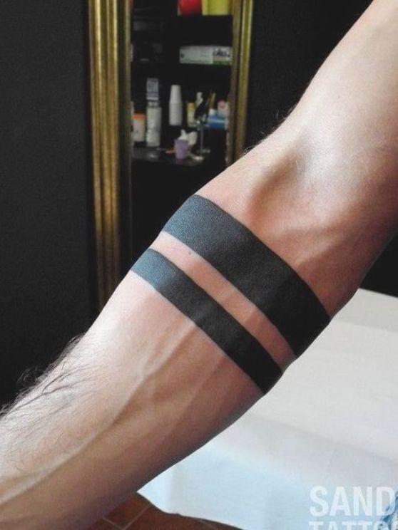 Check the most stunning black Armband Tattoo Design #tattoo #armtattoo #armbandtattoo