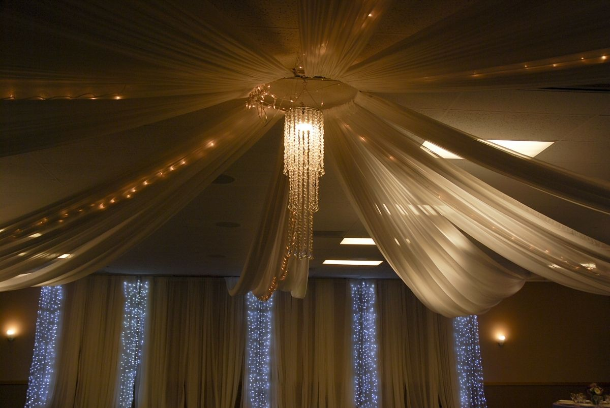 Gallery event center ceiling lights event