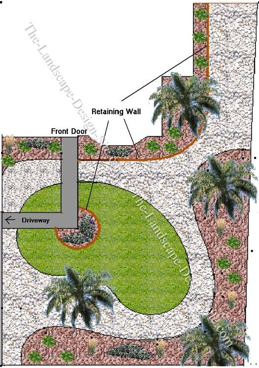 Landscaping ideas for a long narrow front yard garden2 for Small narrow garden designs