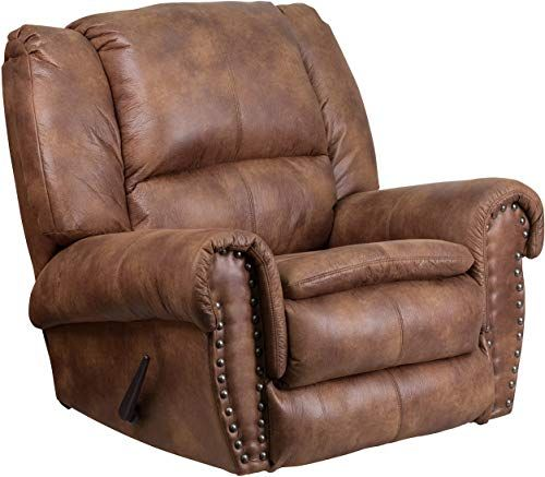 Photo of Buy Flash Furniture Contemporary Breathable Comfort Padre Almond Fabric Rocker Recliner  Brass Accent Nails online – Tophitsfurniture