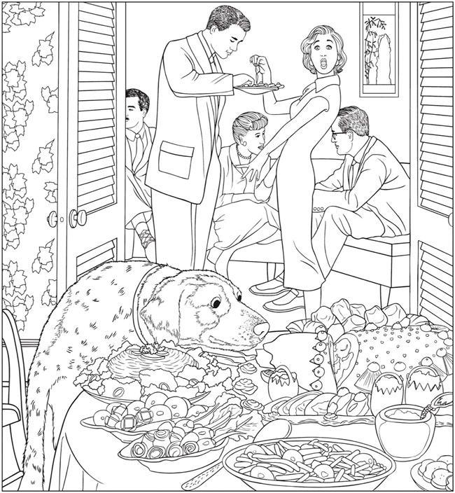 Creative Haven The Saturday Evening Post Americana Coloring Book | Dover Publications