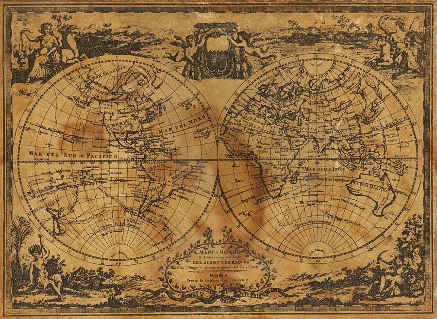 steampunk map wallpaper - photo #3