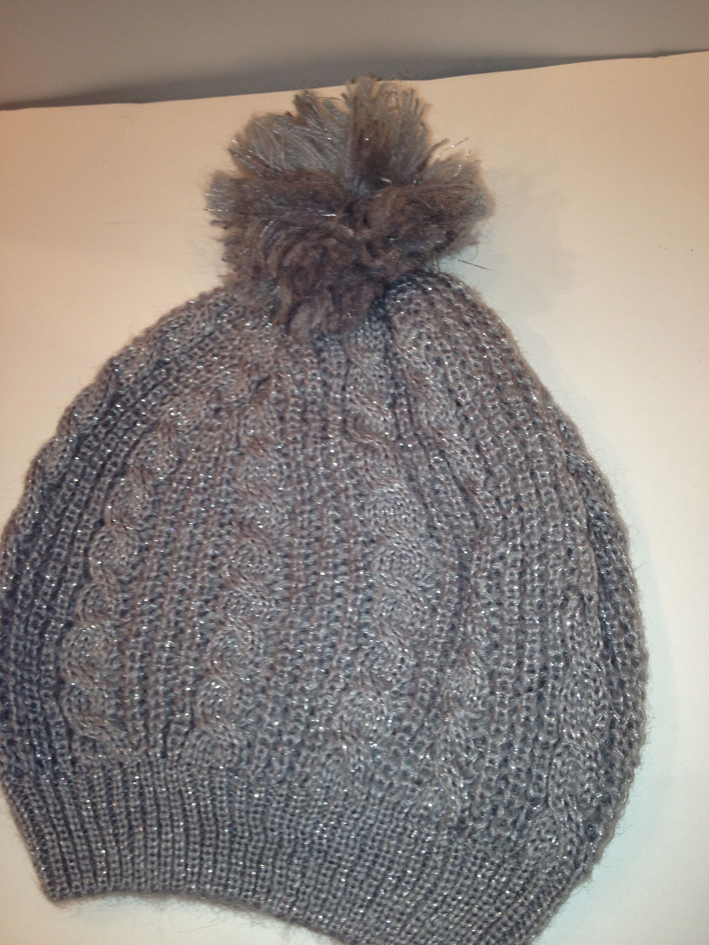 df29c233f5f23b sparkly gray knit hat | Scarves, gloves, and fun | Knitted hats ...