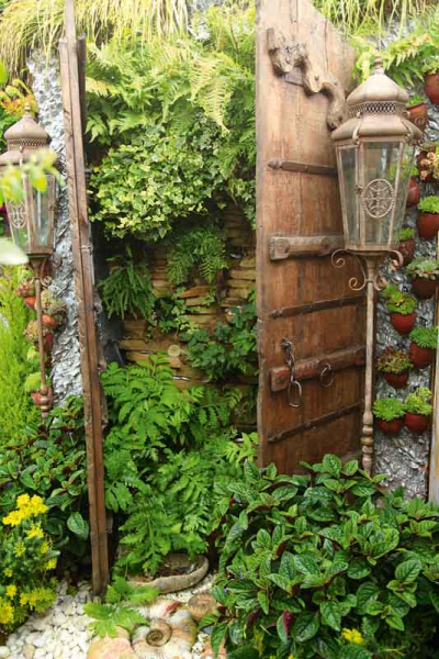 The grotto with its elaborate Moroccan doors, The Magic Garden